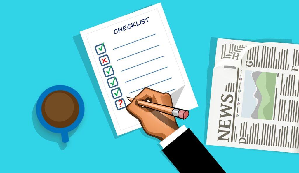 checklist, check, list