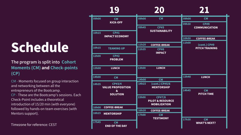 Schedule Boohcamp