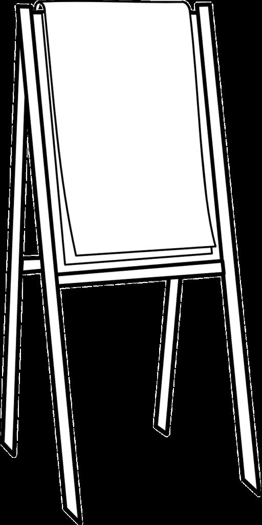 easel, canvas, painting