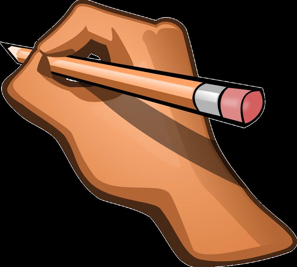 hand, pencil, pen